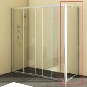 Стенка душевая Kolpa-San SQ Line TS 90/К 90х190 см профиль серебряный/прозрачное стекло 527680