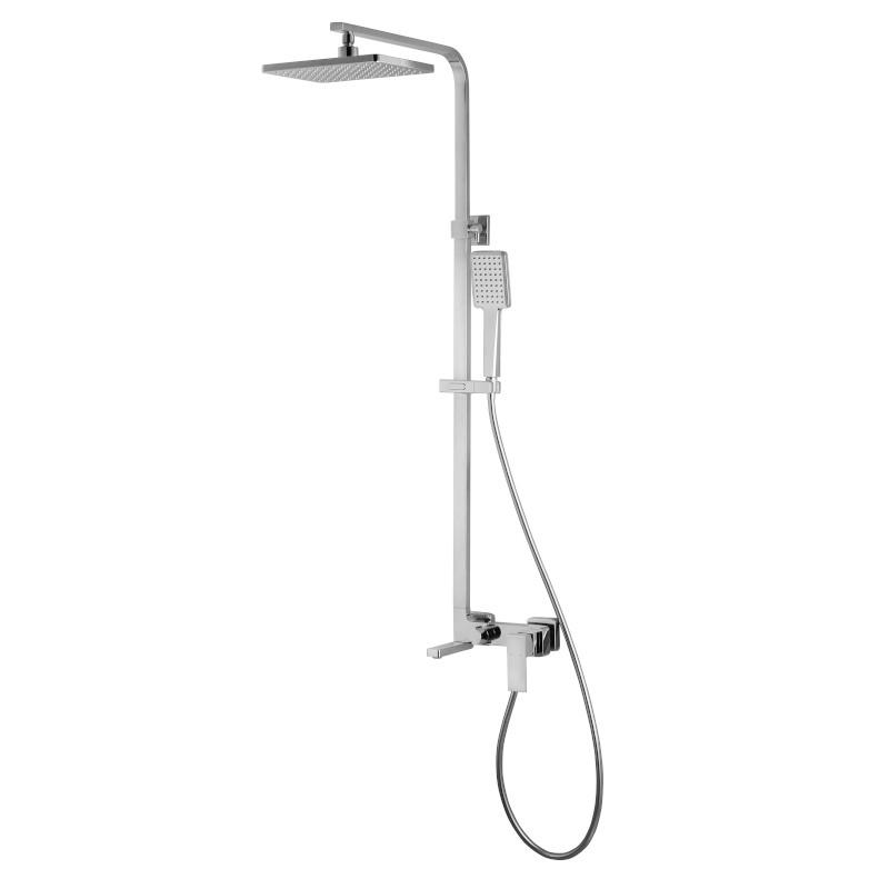 Душевая стойка для ванны Volle Leon с верхним и ручным душем хром 15219300