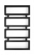 Полотенцесушитель водяной Genesis-Aqua Quattro 80x53 см черный 1001