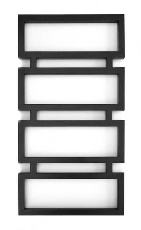 Полотенцесушитель водяной Genesis-Aqua Quattro 100x53 см черный 1002