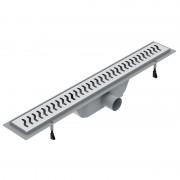 Желоб водосточный Volle 60 см с решеткой волна нержавеющая сталь 90-22-603