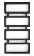 Полотенцесушитель водяной Genesis-Aqua Quattro 120x53 см черный 1003