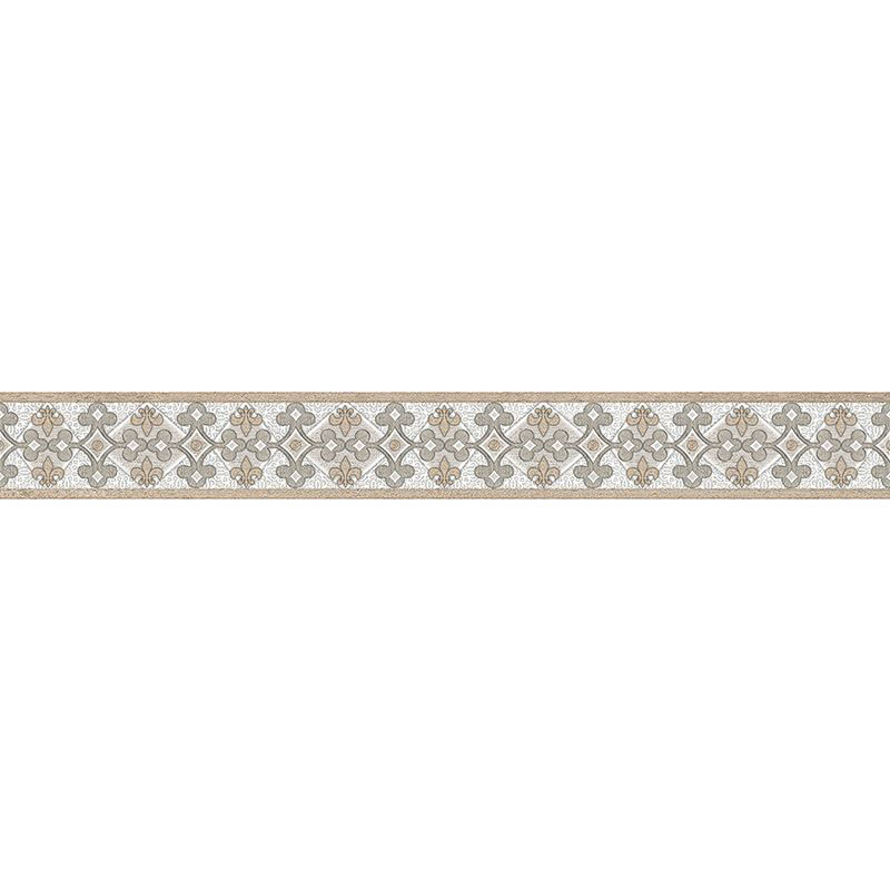 Бордюр InterCerama Dolorian 60х7 см светло-серый 071-1 095609