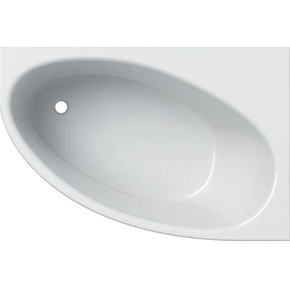 Ванна акриловая Geberit Selnova 140x100 выпуск слева с ножками белый 554.271.01.1