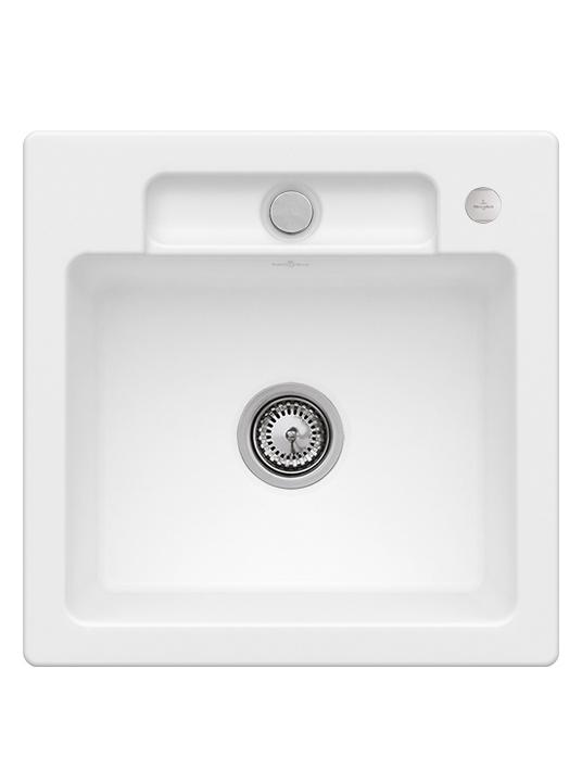 Мойка для кухни Villeroy & Boch Siluet 50 S Flat 49х49 см керамика stone white 33452FRW