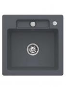 Мойка для кухни Villeroy & Boch Siluet 50 S Flat 49х49 см керамика graphite 33452Fi4