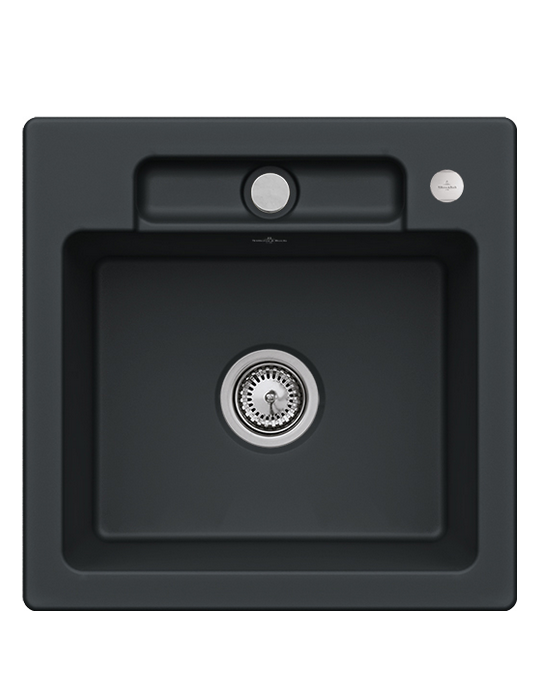 Мойка для кухни Villeroy & Boch Siluet 50 S Flat 49х49 см керамика ebony 33452FS5