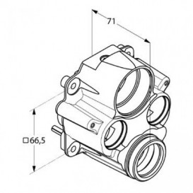 Адаптер для обратного подключения воды для термостатов KLUDI FLEXX BOXX 88011 латунь 7400100-00