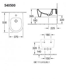 Биде подвесное Villeroy & Boch Avento 54050001