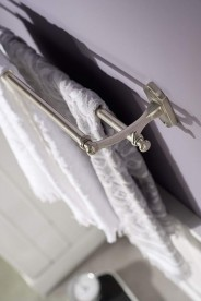 Держатель для полотенец Haceka Vintage двойной серебро 1170902