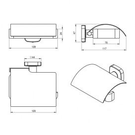 Держатель для туалетной бумаги Volle Teo нержавеющая сталь хром 15-88-440