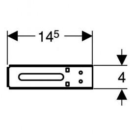 Держатель Geberit Duofix для крепления труб сталь 111.891.00.1