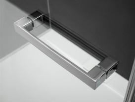 Душевая дверь Radaway Euphoria KDD 80 левая хром прозрачное стекло 383061-01L