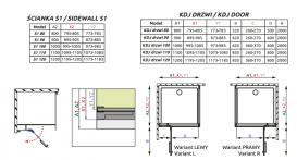 Душевая дверь Radaway Euphoria KDJ Door 110 правая хром прозрачное стекло 383041-01R