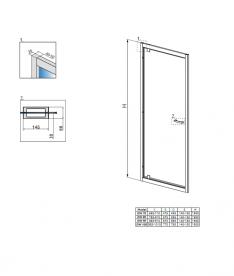 Душевая дверь Radaway Twist DW 90 профиль хром коричневое стекло 382002-08