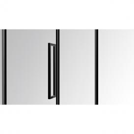 Душевая кабина Eger A Lany 100х100 без поддона профиль алюминий черный прозрачное стекло 599-553/1 Black