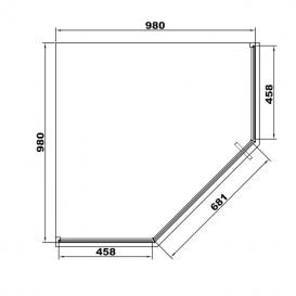 Душевая кабина Eger A Lany 100х100 профиль алюминий черный прозрачное стекло 599-553 Black