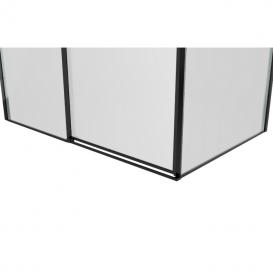 Душевая кабина Eger A Lany 120х80 без поддона профиль алюминий черный прозрачное стекло 599-550/1 Black