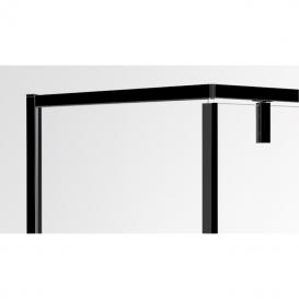 Душевая кабина Eger A Lany 90х90 профиль алюминий черный прозрачное стекло 599-552 Black