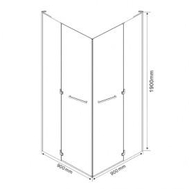 Душевая кабина Eger Rubik 90х90 квадратная профиль алюминий хром прозрачное стекло 599-333/1