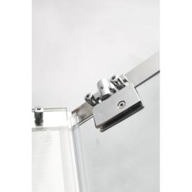 Душевая кабина Eger Talany 90х90 пятиугольная профиль алюминий хром стекло прозрачное 599-555
