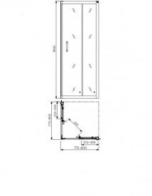 Душевая кабина Kolo GEO 6 80x80х190 часть 1/2 без поддона GKDK80222003A