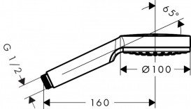 Душевая лейка Hansgrohe коллекция Crometta 1jet хром/белый 26331400