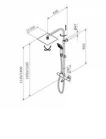 Душевая система GRB Winner хром  44450440TL