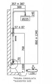 Душевая система Paffoni хром ZCOL 601 CR