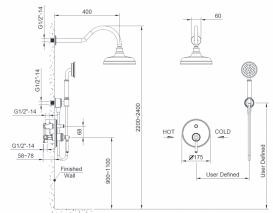 Душевая система скрытого монтажа для душа Imprese Hydrant никель ZMK031806110