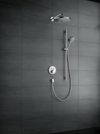Душевой гарнитур со штангой Hansgrohe коллекция Raindance Select S 3jet 120 мм хром/белый 26322400