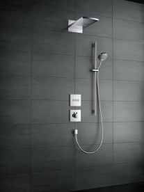Душевой гарнитур со штангой Hansgrohe коллекция Raindance Select S EcoSmart/Unica Comfort 3jet 120 мм хром/белый 26323400
