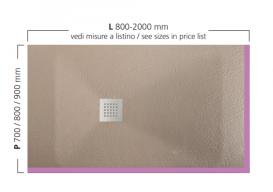 Душевой поддон Hatria Dedicato Edge L 2000x1000 мм SX/LT SOLITEX палитра на выбор Y5AW