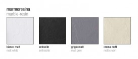 Душевой поддон мраморный Kerasan H2.5 180х80 см серый матовый 704459