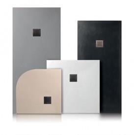 Душевой поддон угловой мраморный Kerasan H2.5 80х80 см серый матовый 704559