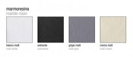 Душевой поддон угловой мраморный Kerasan H2.5 90х90 см белый матовый 704630