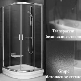 Душевой уголок полукруглый Ravak Blix BLCP4-80 профиль сатин стекло transparent 3B240U00Z1