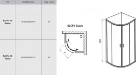 Душевой уголок полукруглый Ravak Blix BLCP4-80 Sabina профиль полированный алюминий стекло transparent 3B240C40Z1
