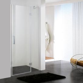 Дверь душевая распашная Eger 100х195 профиль алюминий хром прозрачное стекло 599-701(h)