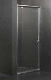 Дверь душевая распашная Eger 90х195 профиль алюминий хром прозрачное стекло 599-150-90(h)