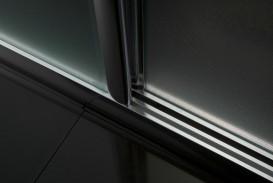 Дверь душевая раздвижная Eger 120х195 профиль алюминий хром прозрачное стекло 599-153(h)