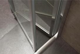 Дверь душевая складная Eger bifold 80х195 профиль алюминий хром прозрачное стекло 599-163-80(h)
