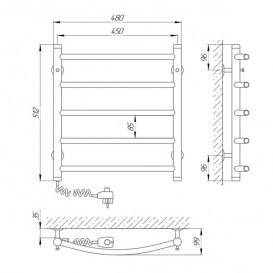 Электрический полотенцесушитель Laris Классик П5 Э 450x500 мм левый 73207046