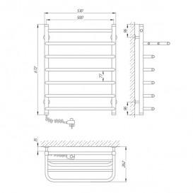 Электрический полотенцесушитель Laris Стандарт П7 Э 500x660 мм левый 73207177
