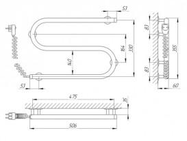 Электрический полотенцесушитель Laris Змеевик 25 РС2 Э 500x330 мм левый 73207189