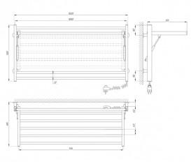 Электрический полотенцесушитель Laris Зебра Астор ЧК8 Э 1000x500 мм правый 75201066