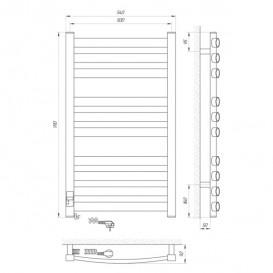 Электрический полотенцесушитель Laris Зебра Атлант Премиум ЧК10 Э 500x900 мм левый 75201083