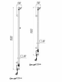 Электрический полотенцесушитель Mario Рей Кубо-I 1500x30 4820111354122