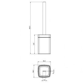 Ершик для унитаза Volle Teo напольный матовое стекло/хром 15-88-127