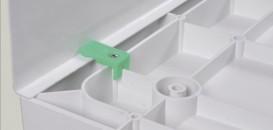 Фронтальная панель для поддона Eger 90х80 (2 части) белая PAN 599-9080S